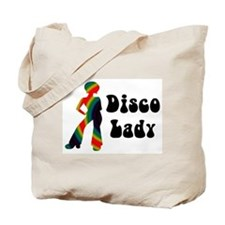 Disco Lady Retro Tote Bag