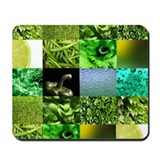 Green Photography Collage Mousepad