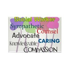 Social Worker Rectangle Magnet (10 pack)