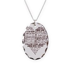 Follow Your Heart Typography Necklace