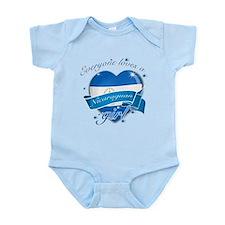 I heart Nicaraguan Designs Infant Bodysuit