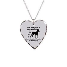 Miniature Pinscher Mommy Necklace