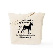 Miniature Pinscher Mommy Tote Bag