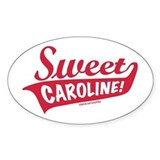 Sweet Caroline Boston Oval Bumper Stickers
