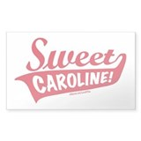 Sweet Caroline Boston Rectangle Decal