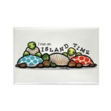 Island Time Turtles Rectangle Magnet