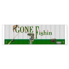 Gone Fishin Bumper Sticker