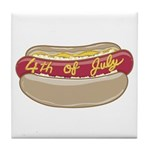 Funny Independence Day Tile Coaster
