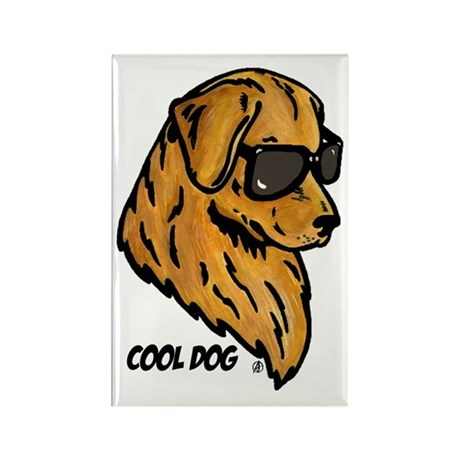 Cool Dog Rectangle Magnet