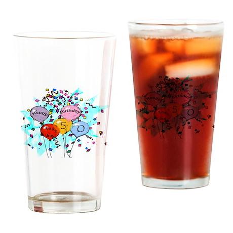 50th Birthday Gifts Drinking Glass
