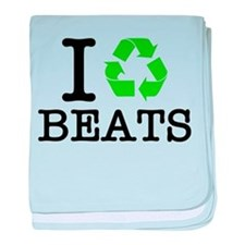 I Recycle Beats baby blanket