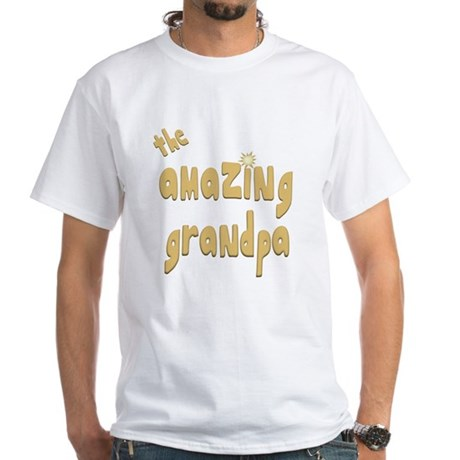 The Amazing Grandpa White T-Shirt
