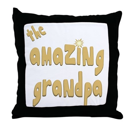 The Amazing Grandpa Throw Pillow