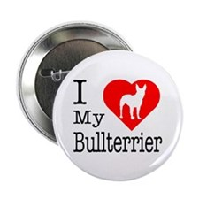 "I Love My Bullterrier 2.25"" Button (100 pack)"