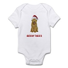 Goldendoodle Christmas Infant Bodysuit