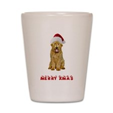 Goldendoodle Christmas Shot Glass