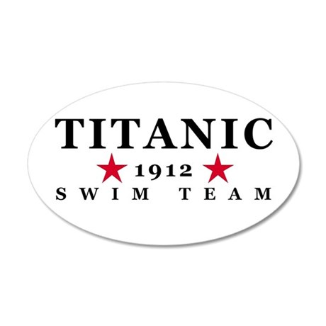 Titanic 1912 Swim Team 38.5 x 24.5 Oval Wall Peel