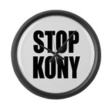 Stop Kony Large Wall Clock