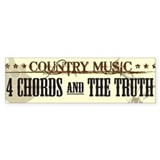 Country Music Bumper Car Sticker