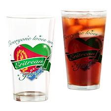 I heart Eritrean Designs Drinking Glass
