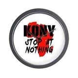 Kony Stop At Nothing Wall Clock