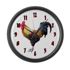 Rooster Large Wall Clock 17inch
