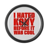 I Hated Kony Before It Was Cool Large Wall Clock