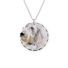 Butters the Labradoodle Necklace Circle Charm