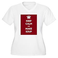 Keep Calm & Make Soup - T-Shirt