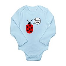 Ladybug I'm a Boy Long Sleeve Infant Bodysuit