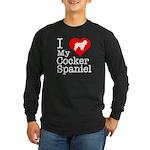 I Love My Cocker Spaniel Long Sleeve Dark T-Shirt