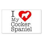 I Love My Cocker Spaniel Sticker (Rectangle 10 pk)