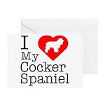 I Love My Cocker Spaniel Greeting Cards (Pk of 10)