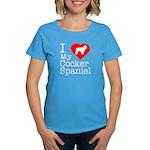 I Love My Cocker Spaniel Women's Dark T-Shirt