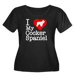 I Love My Cocker Spaniel Women's Plus Size Scoop N