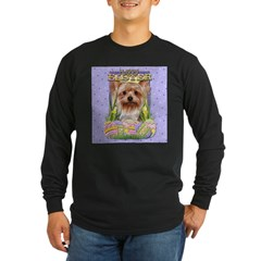 Easter Egg Cookies - Yorkie Long Sleeve Dark T-Shi