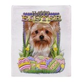 Easter Egg Cookies - Yorkie Throw Blanket