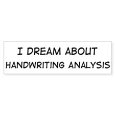 Dream about: Handwriting Anal Bumper Bumper Sticker