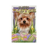 Easter Egg Cookies - Yorkie Rectangle Magnet