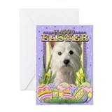 Easter Egg Cookies - Westie Greeting Card