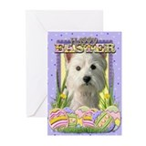 Easter Egg Cookies - Westie Greeting Cards (Pk of