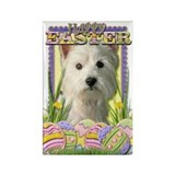 Easter Egg Cookies - Westie Rectangle Magnet