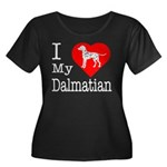 I Love My Dalmatian Women's Plus Size Scoop Neck D