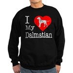 I Love My Dalmatian Sweatshirt (dark)
