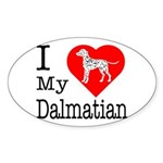 I Love My Dalmatian Sticker (Oval 50 pk)