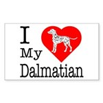 I Love My Dalmatian Sticker (Rectangle 10 pk)