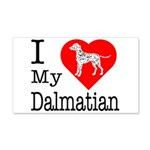 I Love My Dalmatian 22x14 Wall Peel