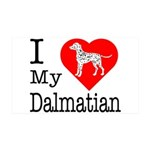 I Love My Dalmatian 38.5 x 24.5 Wall Peel