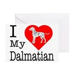 I Love My Dalmatian Greeting Cards (Pk of 10)