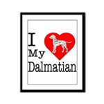 I Love My Dalmatian Framed Panel Print